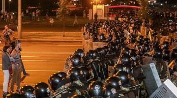 Proteste in Belarus am 9.8.2020, Foto von Pramen