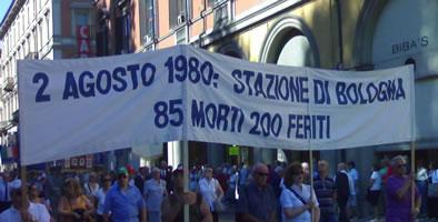 Gedenken an das Massaker von Bologna am 2. August 1980