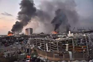 Die Explosion im Hafen von Beirut am 4.8.2020