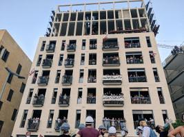Besetztes Aussenministerium in Beirut am 8.8.2020