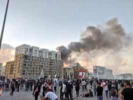 Beirut: Das Finanzminsterium brennt am 8.8.2020
