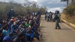 Blockade in Bolivien am 10.8.2020