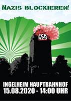 Ingelheim am 15.8.20: Ca 25 Neonazis, 300 Polizisten - und 116 Verletzte bei einer friedlichen und legalen antifaschistischen Gegen-Kundgebung