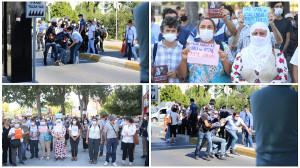 Solidaritätsaktion mit Rechtsanwälten im Hungerstreik in Istanbul am 1.8.2020