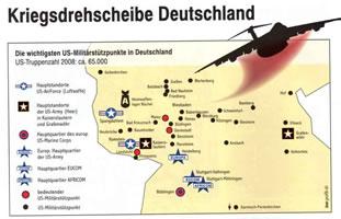 Standorte der US-Truppen in Deutschland