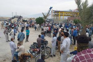 Beginn der Streikwelle der Ölarbeiter im Südiran am 1.8.2020