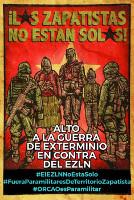 Aktuelles mexikanisches Soliplakat mit den Zapatisten vom August 2020
