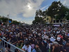 Die bisher größte Demonstration gegen die Monarchie in Thailand am 16.8.2020 in Bangkok