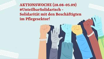 """Pflegebündnis demonstriert unter dem Motto """"Das Klatschen auf die Straße tragen! Pflege-Aufstand jetzt!"""" am 05.09.2020 in Köln"""