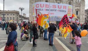 CUB-Aktion in Rom in Vorbereitung des Streiks an den Schulen am 24.9.2020