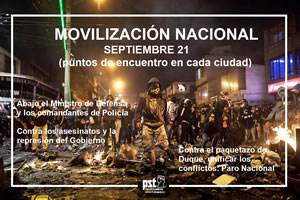 Protesttag am 21. September 2020 in Kolumbien