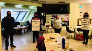 Belegschaftsprotest in Zeiten von Corona: Debenham-Irland
