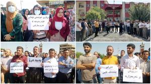 Lehrerstreik in Iranisch-Kurdistan im September 2020
