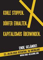 Rheinisches Braunkohlerevier soll stillgelegt werden – Ende Gelände plant Proteste gegen Kohle und Klimakrise am 23. – 28.09.2020