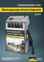 Aktionswoche 21.09.-27.09.2020: FRIEDEN BEGINNT HIER! Rüstungsexportkontrollgesetz JETZT!!
