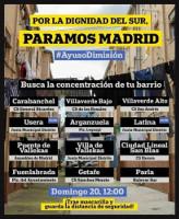 Mobilisierungsplakat Madrid 20.9.2020 gegen die Ausgangssperre für ärmere Viertel