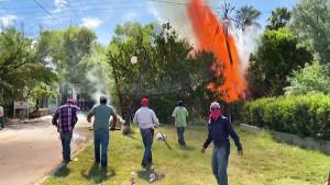 Wasserprotest in Mexiko im September 2020