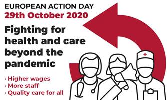 [29.10.2020] Europaweiter Aktionstag von Beschäftigten im Gesundheits- und Sozialwesen