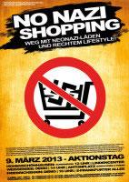 No Nazi-shopping! Aktionstag gegen Label 23 / Thor Steinar am 9. März 2013 in Berlin