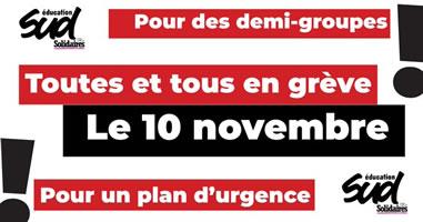 Schulstreik in Frankreich am 10.11.2020