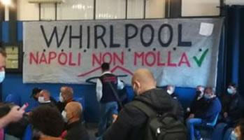 Belegschaftsversammlung bei Whirlpool in Neapel am 31.10.2020