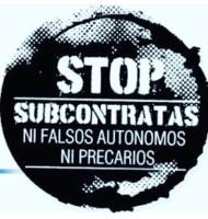 Plakat der Aktionswoche gegen Leiharbeit im Dezember 2020 in Spanien