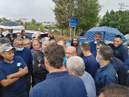 Streik bei Yamit für gleiche Rechte für palästinensische Arbeiter