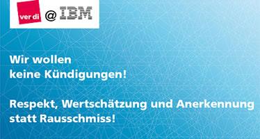 ver.di kritisiert angedrohte Kündigungen bei IBM