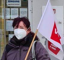 Kristin Zuber kämpft für das Recht auf Maskenpause - Foto: ver.di Bezirk Mittleres Ruhrgebiet