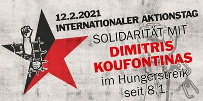 12. Februar 2021: Globaler Aktionstag der Solidarität mit Dimitris Koufontinas im Hungerstreik im griechischen Gefängnis