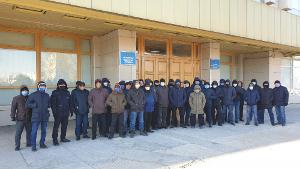Vor dem Prozess gegen die Energiegewerkschaft in Kasachstan Februar 2021
