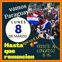 Paraguay im März 2021: Aufruf zum sofortigen Rücktritt der Regierung