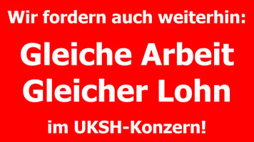 Arbeitskampf der Servicekräfte am Uniklinikum Schleswig-Holstein (UKSH)