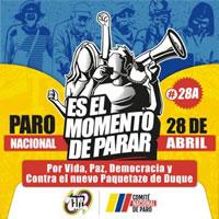 Generalstreik in Kolumbien gegen neoliberale Reformen am 28. April 2021
