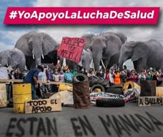 Streik v.a. der Frauen im Krankenhaus in Neuquén/Argentinien gegen Sparmaßnahmen in der Pandemie - #YoApoyoLALuchaDeSalud