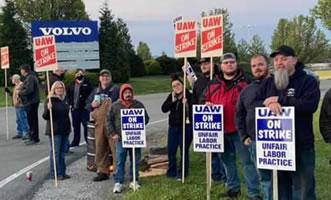 USA im April 2021: 2.900 Volvo-Trucks-Arbeiter in Virginia legen die Arbeit nieder