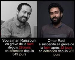 Solidarität mit den marokkanischen Journalisten Omar Radi und Soulaiman Raïssouni: Seit Monaten in Haft, seit Anfang April im Hungerstreik