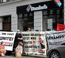 Kündigung bei Domino's Pizza Leipzig nach Bitte um Schnelltests! - FAU Leipzig protestiert