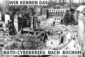 Nato-Cyberkriech nach BOchum - Grafik von Ralf Feldmann
