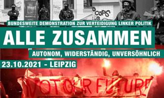 Alle zusammen! Demonstration am 23.10.21 in Leipzig